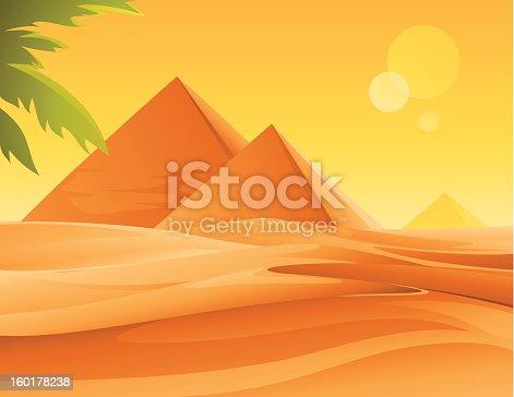 istock Pyramids and Desert 160178238