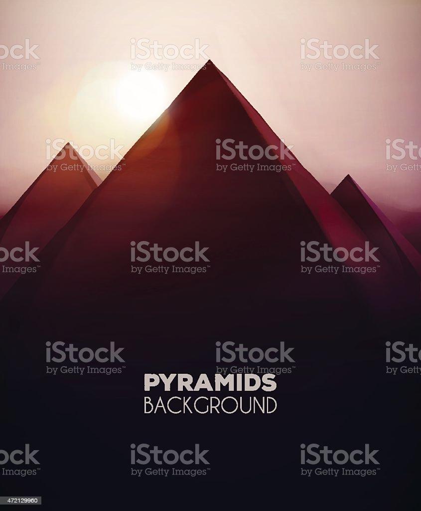 Pyramids Background vector art illustration
