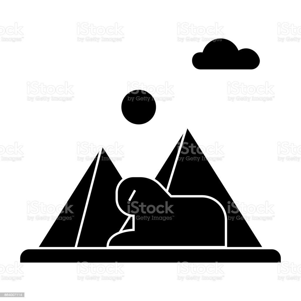 pyramids, egypt  icon, vector illustration, sign on isolated background vector art illustration