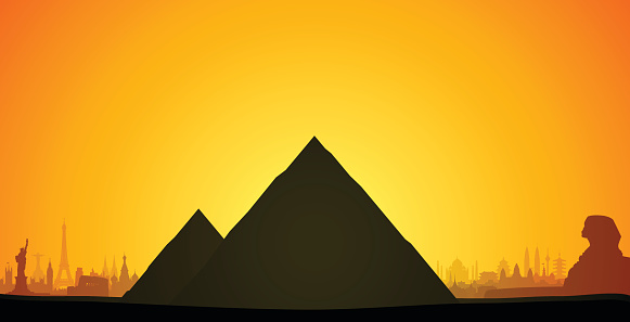 Pyramids, Egypt (Complete, Detailed, Moveable Buildings)