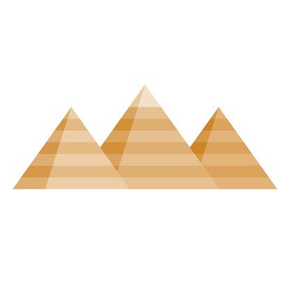 Pyramids Icon on Transparent Background