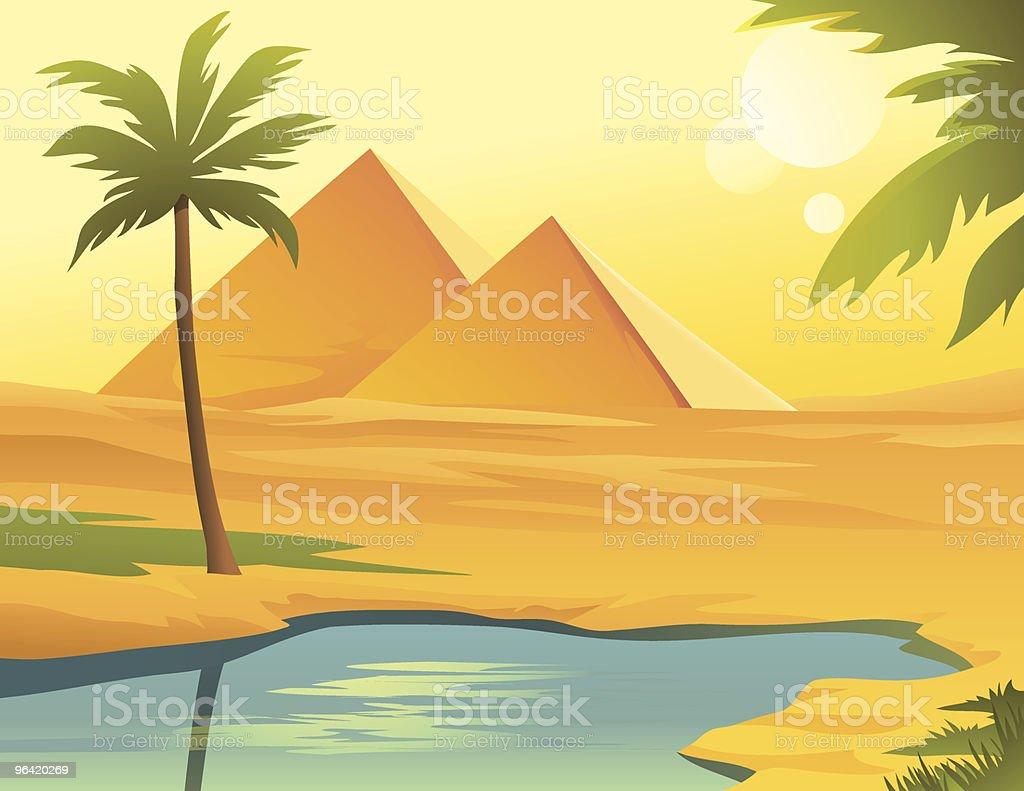 Pyramides de Egipt - clipart vectoriel de Afrique libre de droits