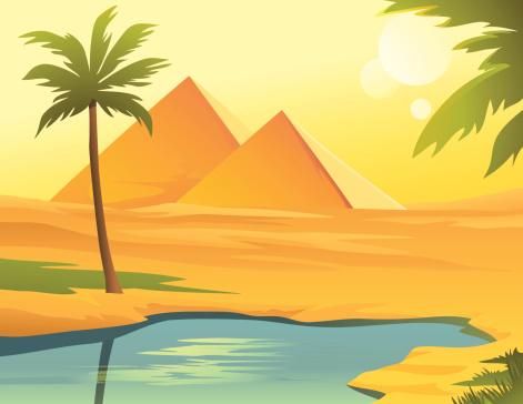 Pyramides De Egipt Vecteurs libres de droits et plus d'images vectorielles de Afrique