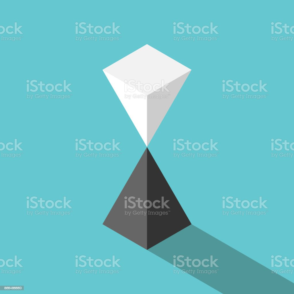 Pyramids, unstable equilibrium vector art illustration