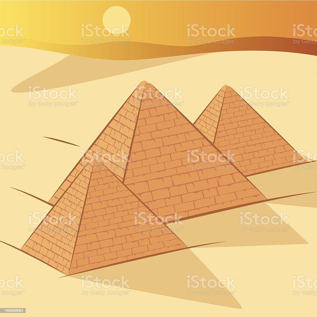 Pyramids vector art illustration