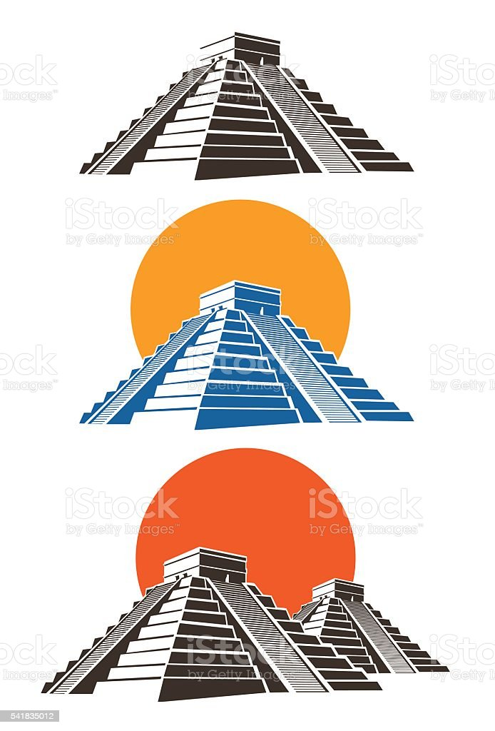 royalty free aztec pyramid clip art vector images illustrations rh istockphoto com pyramid clip art images pyramid clip art free