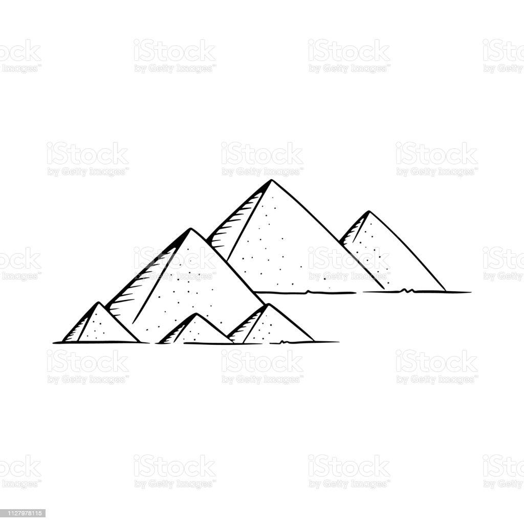 Vetores De Ilustracao Do Vetor De Piramides Piramides De Desenho