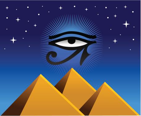 Pyramids with Horus Eye