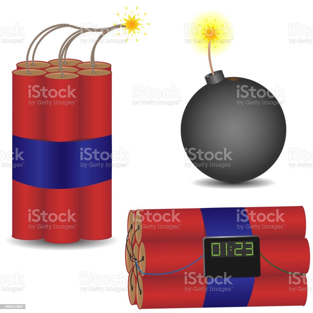 pyrotechnic set royalty-free stock vector art