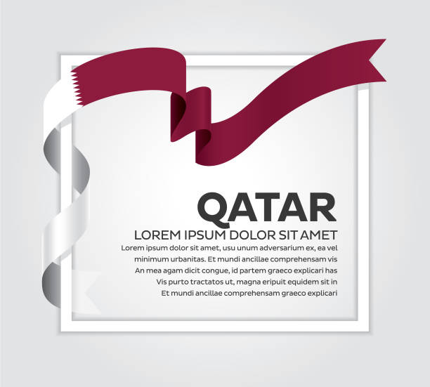 Qatar flag background qatar, country, flag, vector, icon national holiday stock illustrations