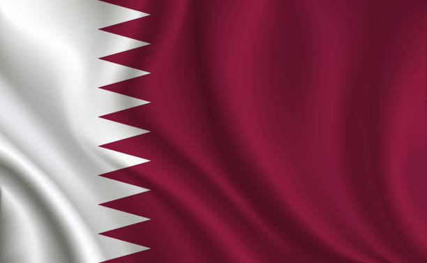 ilustraciones, imágenes clip art, dibujos animados e iconos de stock de fondo de bandera de qatar - qatar