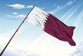 Qatar flag illustrated with gradient mesh tool.