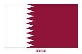 Qatar Flag Vector Illustration on White Background. Qatar National Flag.