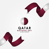 Qatar Independence Day Vector Design Template. Qatar National Day