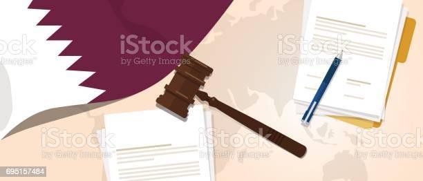 https www istockphoto com tr vekt c3 b6r katar hukuk anayasa hukuk yarg c4 b1 adalet mevzuat deneme kavram c4 b1 bayrak tokmak ka c4 9f c4 b1t ve gm695157484 128738075