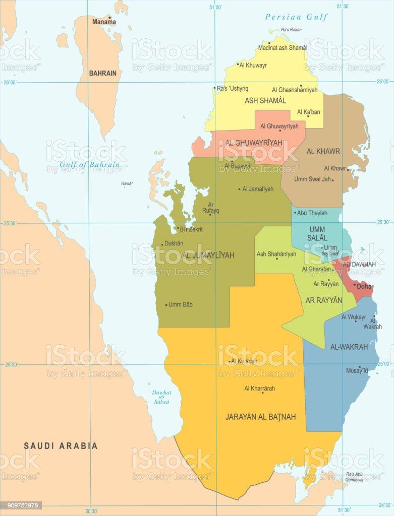 Qatar Map Detailed Vector Illustration Stock Illustration ... on italy map area, algeria map area, cape verde map area, jamaica map area, bangladesh map area, kuwait map area, lebanon map area, puerto rico map area, palestine map area, egypt map area, rwanda map area, syria map area, middle east map area, iceland map area, haiti map area, japan map area, albania map area, asia map area, cayman islands map area, saudi arabia map area,
