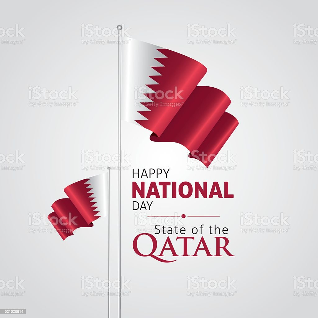 Fête nationale de Qatar fête nationale de qatar – cliparts vectoriels et plus d'images de blanc libre de droits