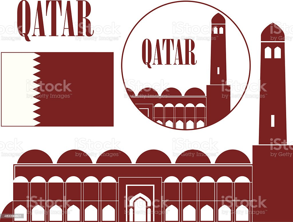 Qatar royalty-free qatar stock vector art & more images of architecture