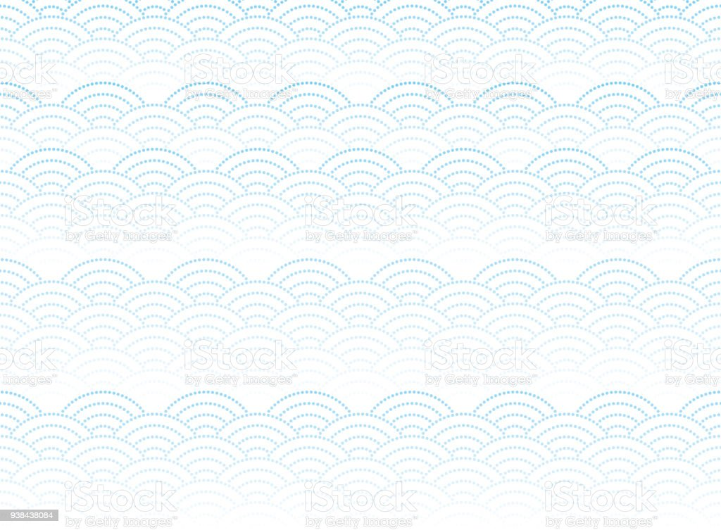 Qinghai wave pattern. Japanese background material. vector art illustration