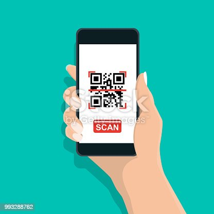 Qr and mobile code - Vector illustration