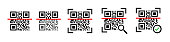 Qr code scanning icon set. Qr code scanners set. Different qr code scanners. Scaner icon vector illustration. Camera icon. Mobile app application. Smartphone screen. Bar code icon. Line symbol. EPS 10