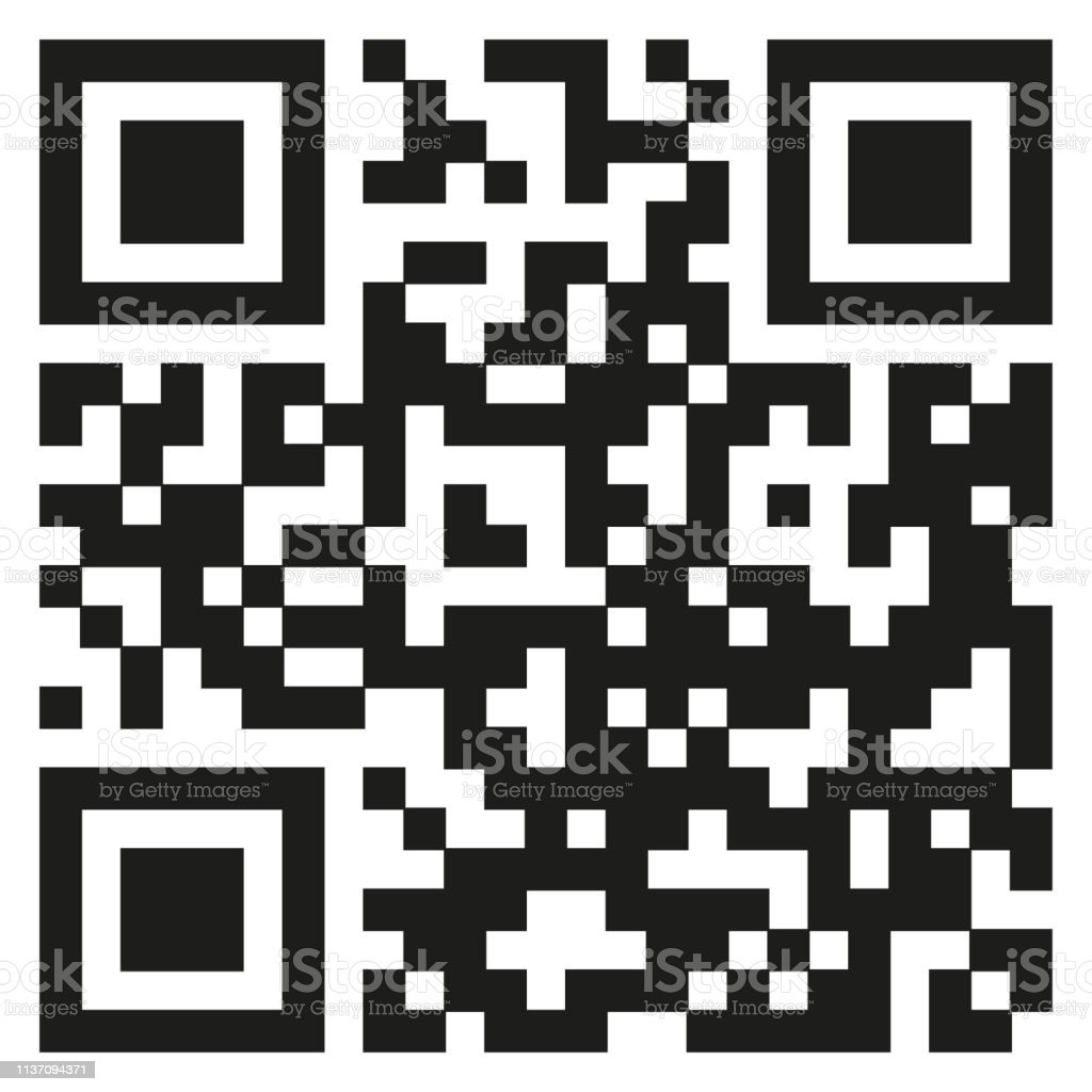 Qr Code Template To Scan By Smart Phone Vector Illustration Stock