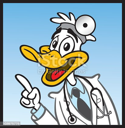 Great illustration of a quack duck doctor. Perfect for a medical illustration. EPS and JPEG files included. Be sure to view my other illustrations, thanks!