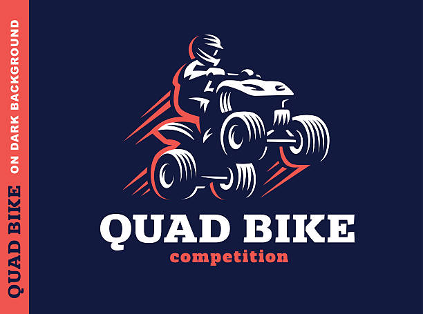 Quad bike competition. Illustration design vector art illustration