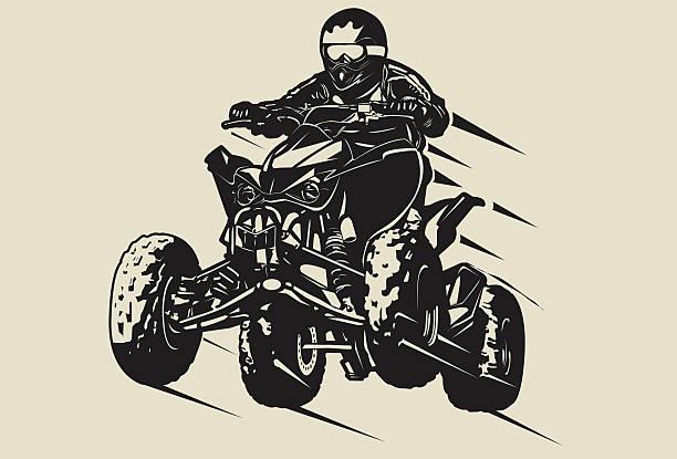 quad-jumping - fahrzeug fahren stock-grafiken, -clipart, -cartoons und -symbole