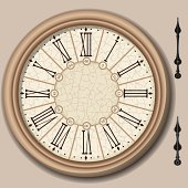 Quadrant of Victorian Clock with Lancets