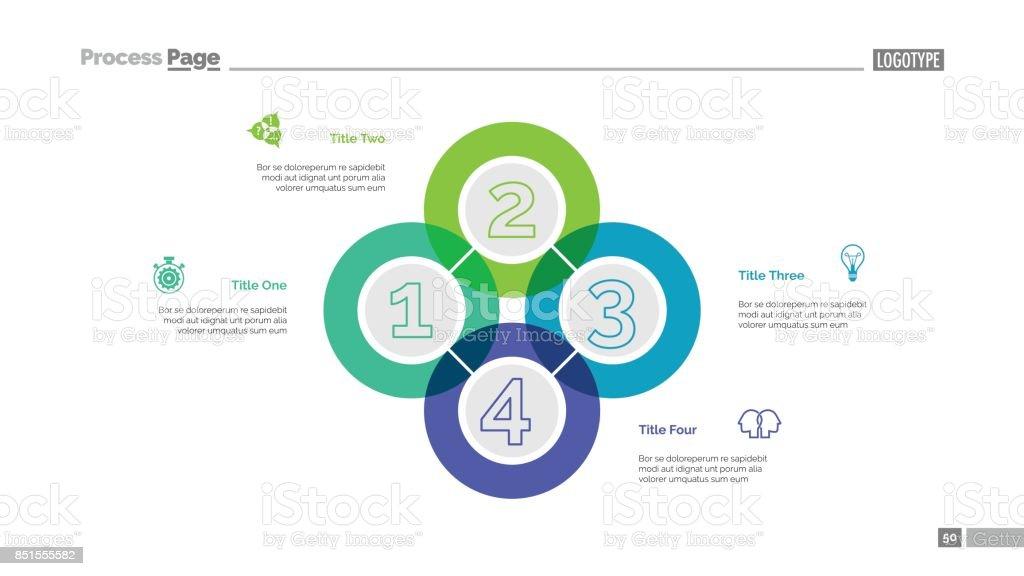 Quadruple Intersect Slide Template vector art illustration