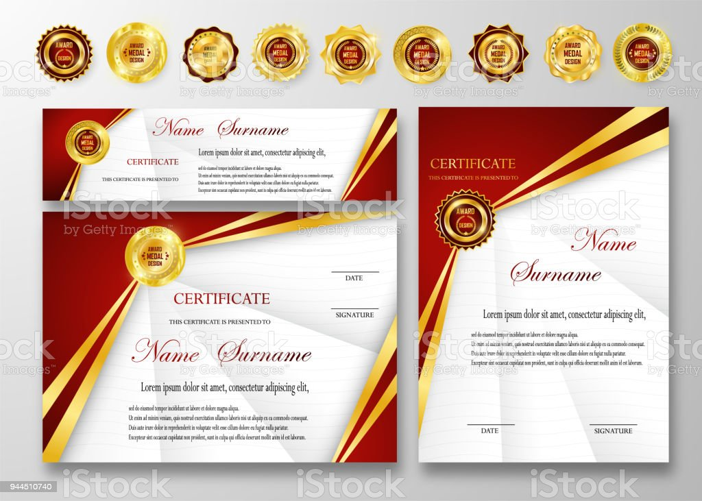 Qualification Certificate Of Appreciation Design Stock Vector Art ...