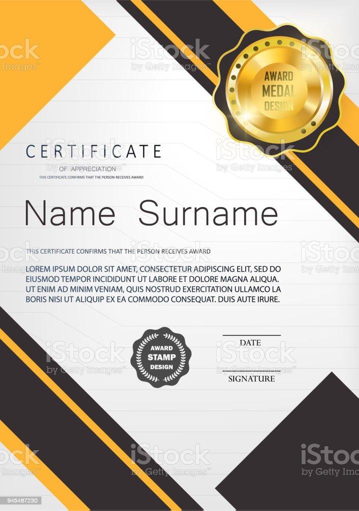 qualification certificate of appreciation design stock vector art