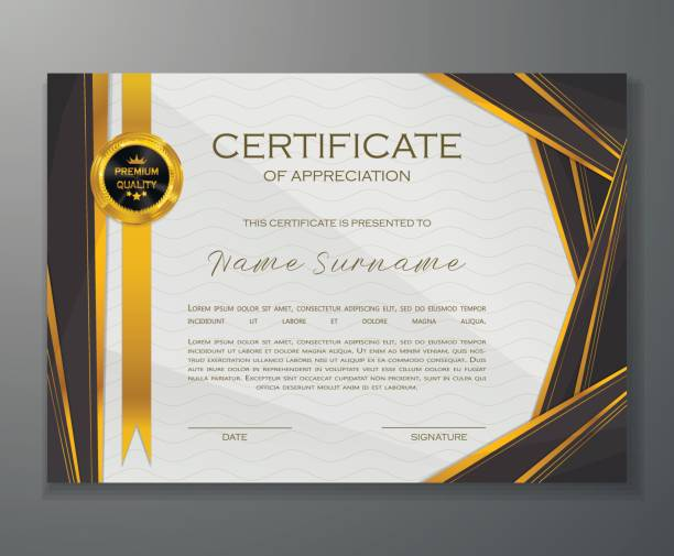 royalty free blank diploma or certificate clip art vector images