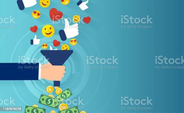 Kvalificerat Leadskoncept Vektor Av Sociala Medier Tratt-vektorgrafik och fler bilder på Affärsstrategi