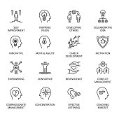 istock Qualities of A Leader and skills conceptual icons 1188003167