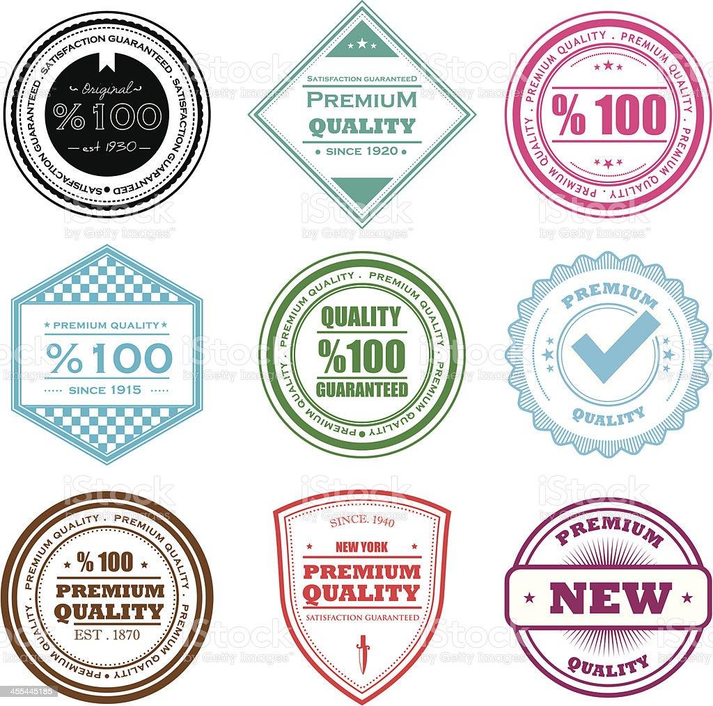 Badge di qualità - illustrazione arte vettoriale