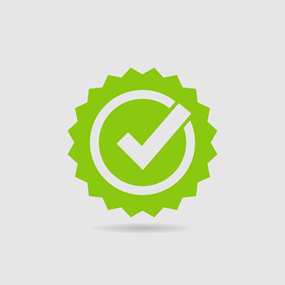 Quality Check Certified Badge Icon