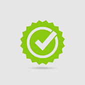 istock Quality Check Certified Badge Icon 1263990620