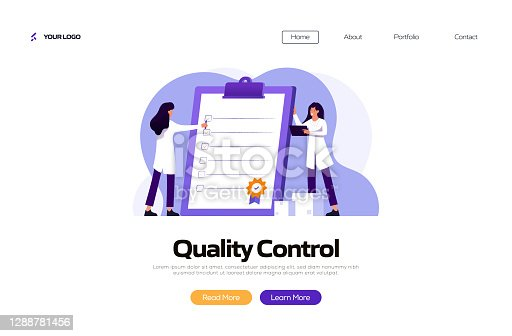 Quality Control Concept Vector Illustration for Landing Page Template, Website Banner, Advertisement and Marketing Material, Online Advertising, Business Presentation etc.
