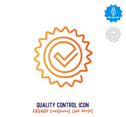 Quality Control Continuous Line Editable Stroke Line