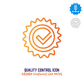 istock Quality Control Continuous Line Editable Stroke Line 1257210906