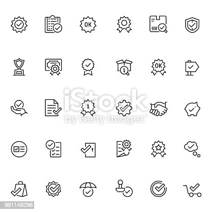 Quality control icon set
