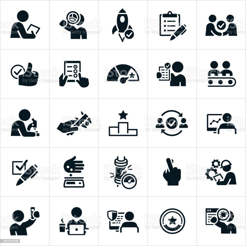 Qualitätsprüfer Symbole – Vektorgrafik