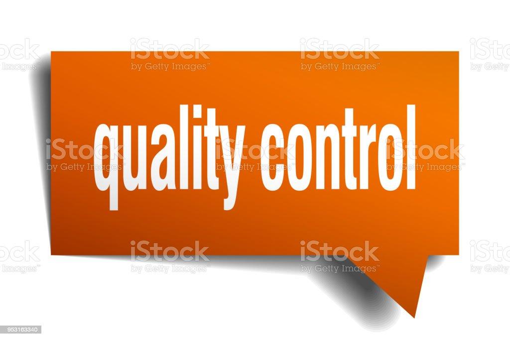 speech on quality control