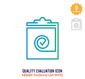 istock Quality Evaluation Continuous Line Editable Icon 1250538066
