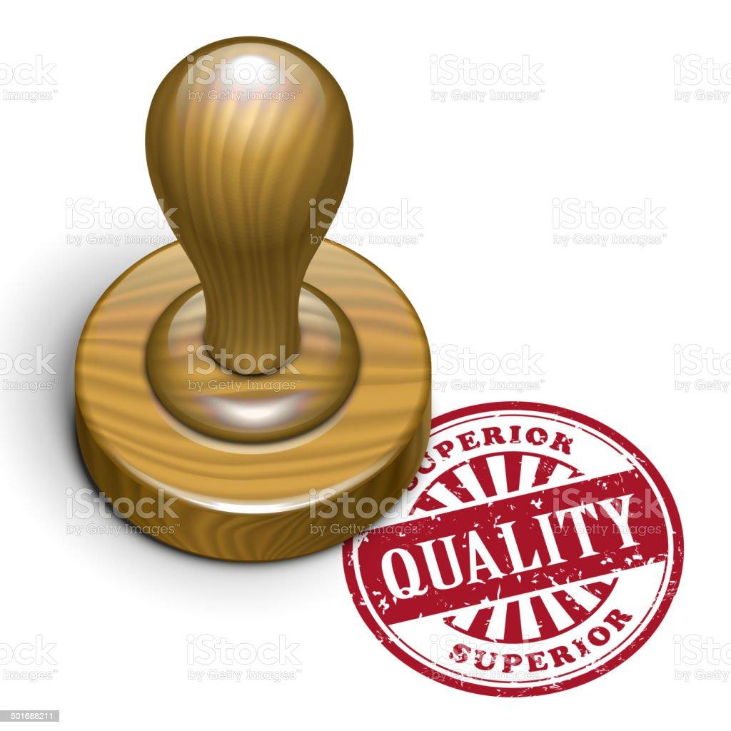 quality grunge rubber stamp vector art illustration