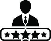 Quality Management Icon. Flat Design