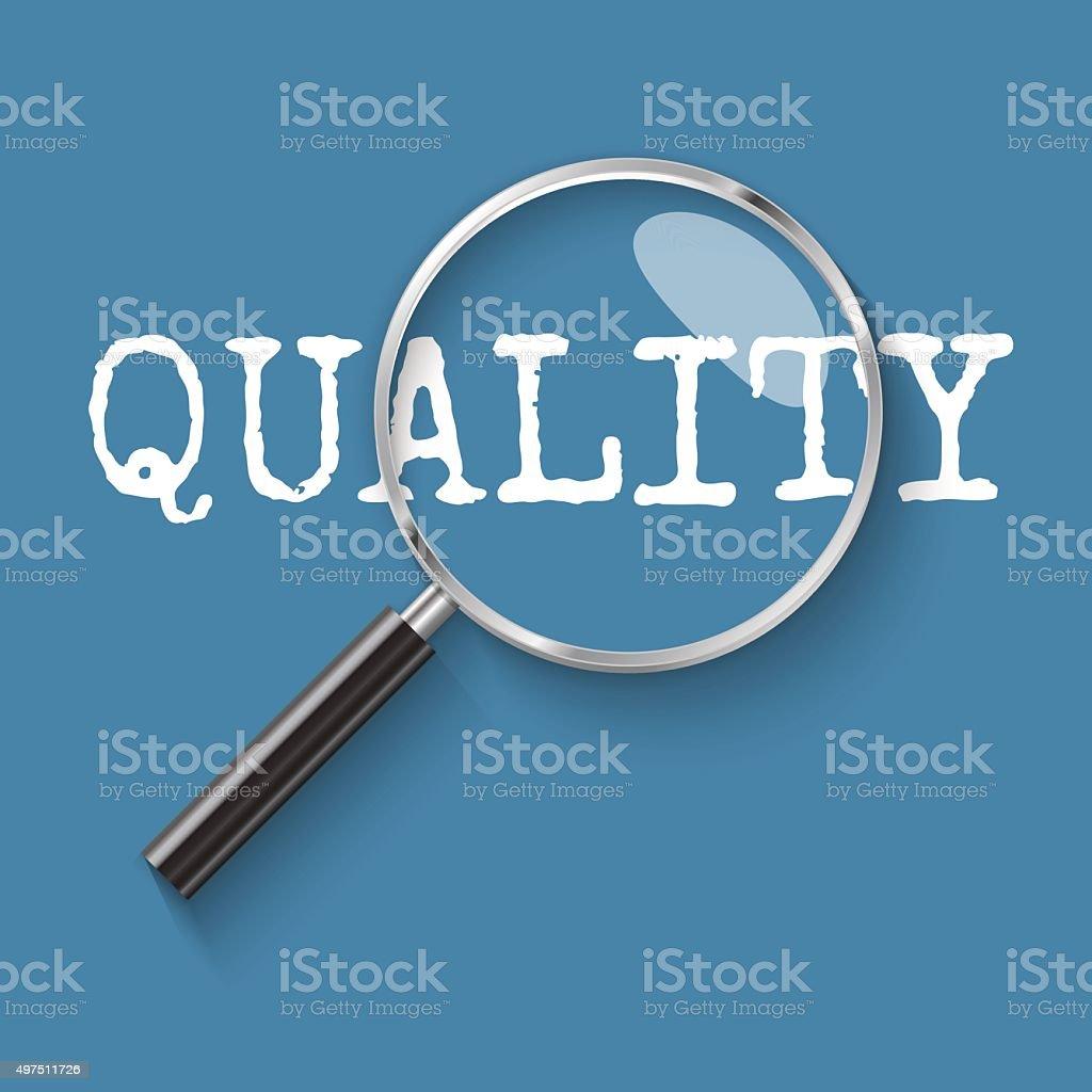 Quality management Magnifying glass concept illustration vector art illustration