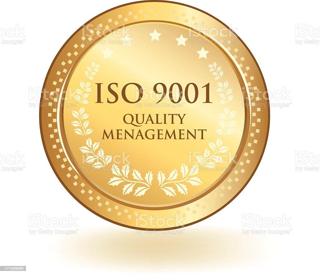ISO Quality Management vector art illustration